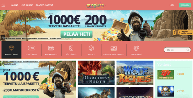 Slotanza Casino tervetulopaketti