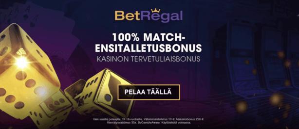 betregal casino 100% bonus