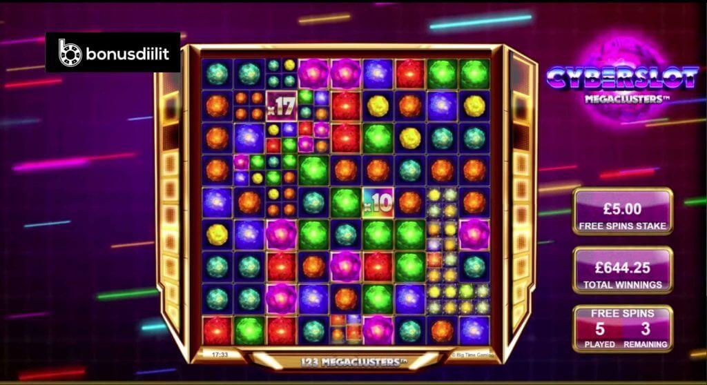 Cyberslot Megaclusters (Big Time Gaming)- Uusi korkean varianssin videoslot 2