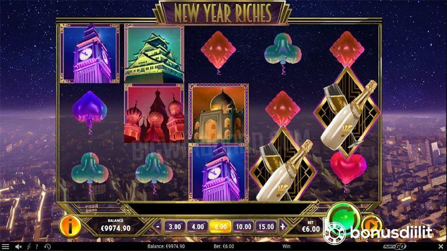 New Year Riches (Play N Go) - Uudenvuoden juhlat slottipelissä! 1