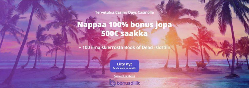 casino days bonus