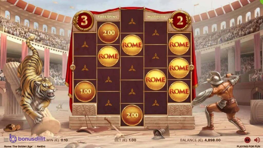 Rome The golden age (NetEnt) – Antiikin aarteet 2