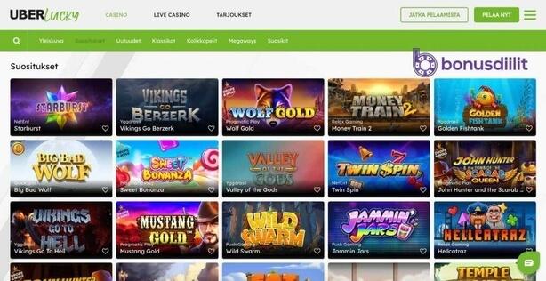 UberLucky Casino games