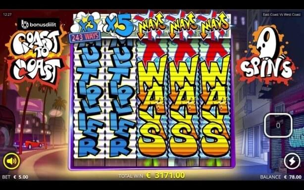 east coast vs west coast xways bonus