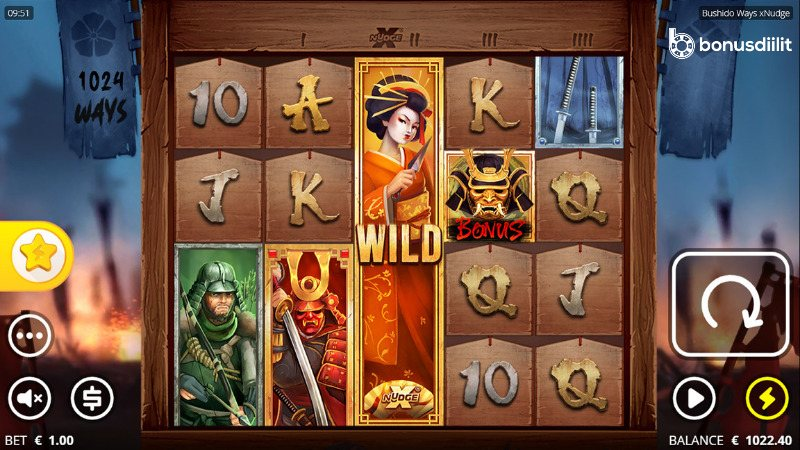 Bushido ways xNudge (Nolimit City) - Uusi korkean volatiliteetin peli 1