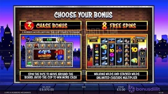 Cops´N Robbers Megaways (Inspired Gaming) - Kolikkopeli täynnä tapahtumia 1