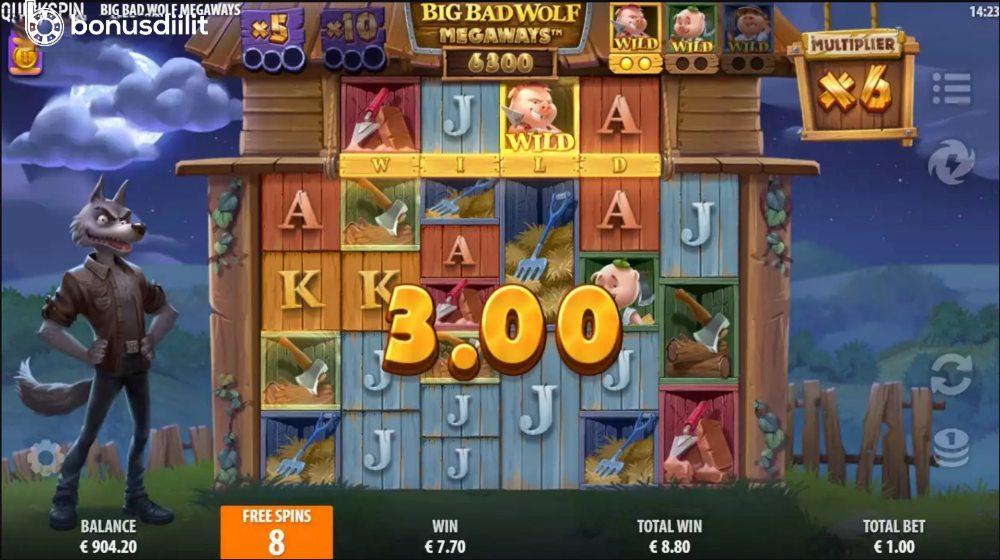 Big Bad Wolf Megaways bonus game