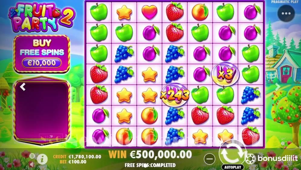 Fruit Party 2 Bonus game