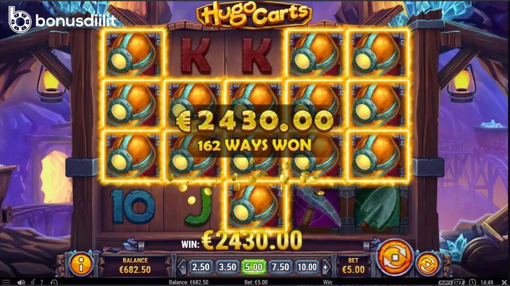 Hugo Carts bonusgame
