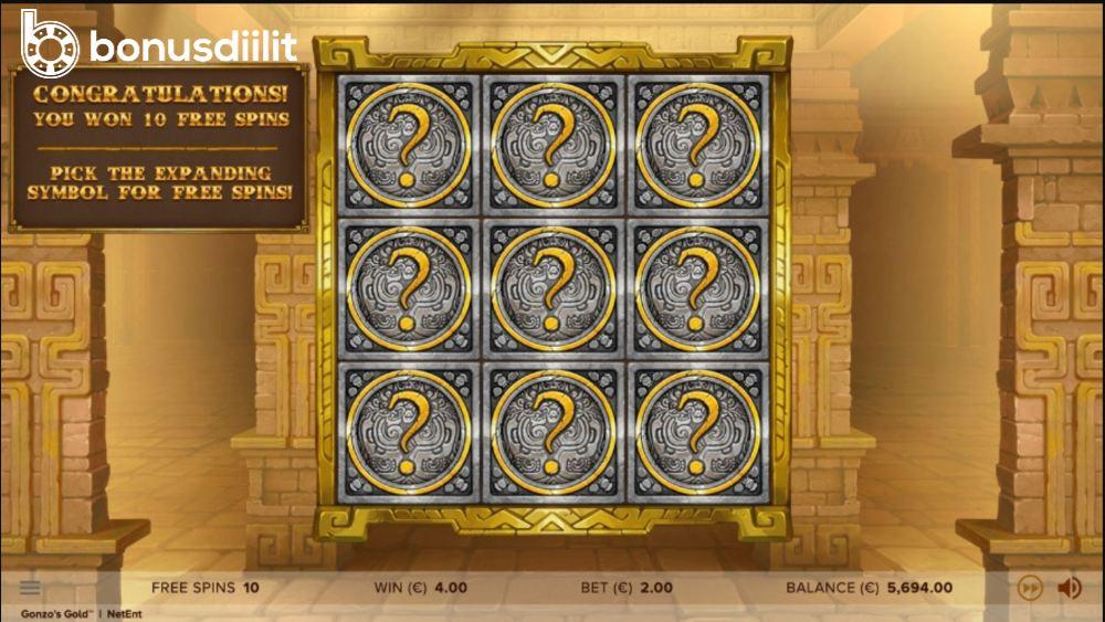 Gonzos Gold bonus