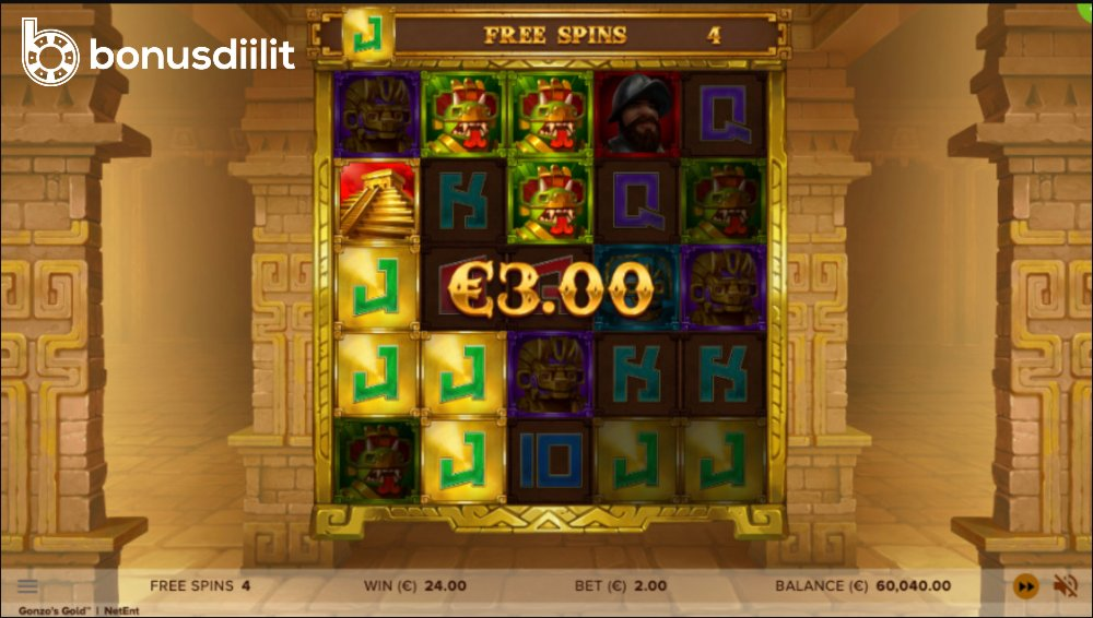 Gonzos Gold bonusgame