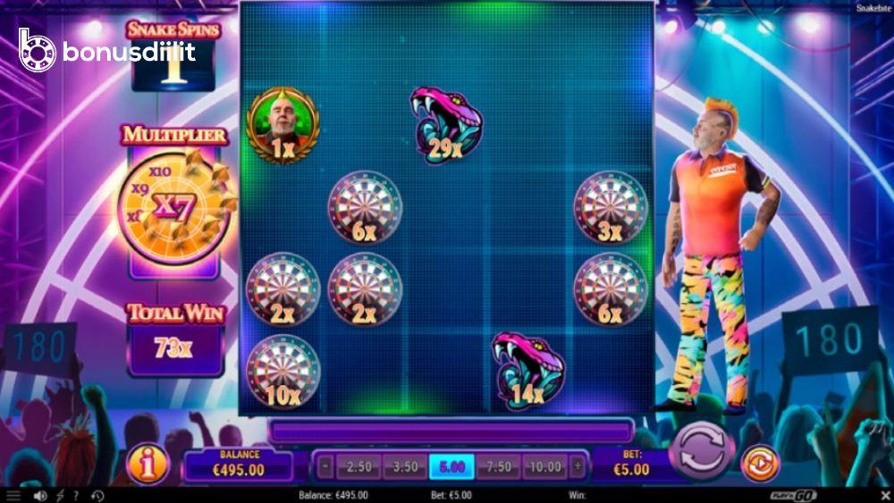 snakebite slot bonusgame